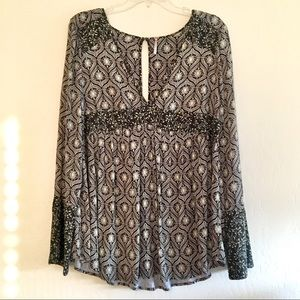 FREE PEOPLE Rolling Hills Bell Sleeve Tunic sz SM